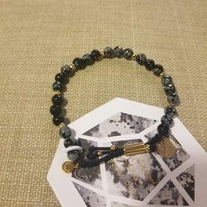 Gorjana Snowflake Obsidian Power Gemstone Bracelet